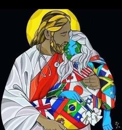Christ carrying a sick world